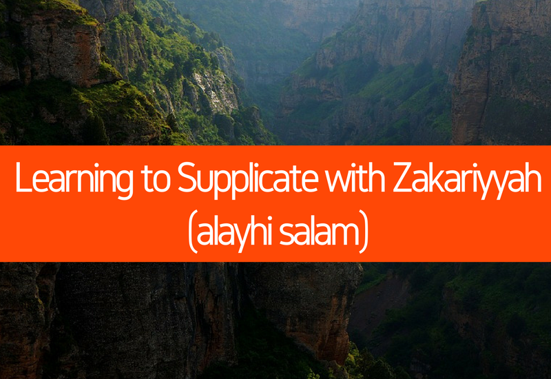Learning to Supplicate with Zakariyyah