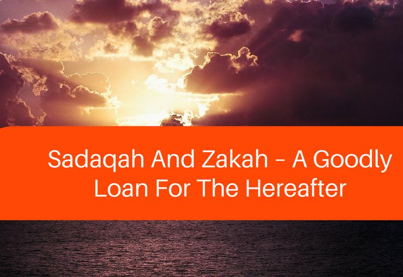 sadaqah and zakah